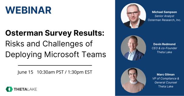 Osterman Research Webinar Microsoft Teams Survey