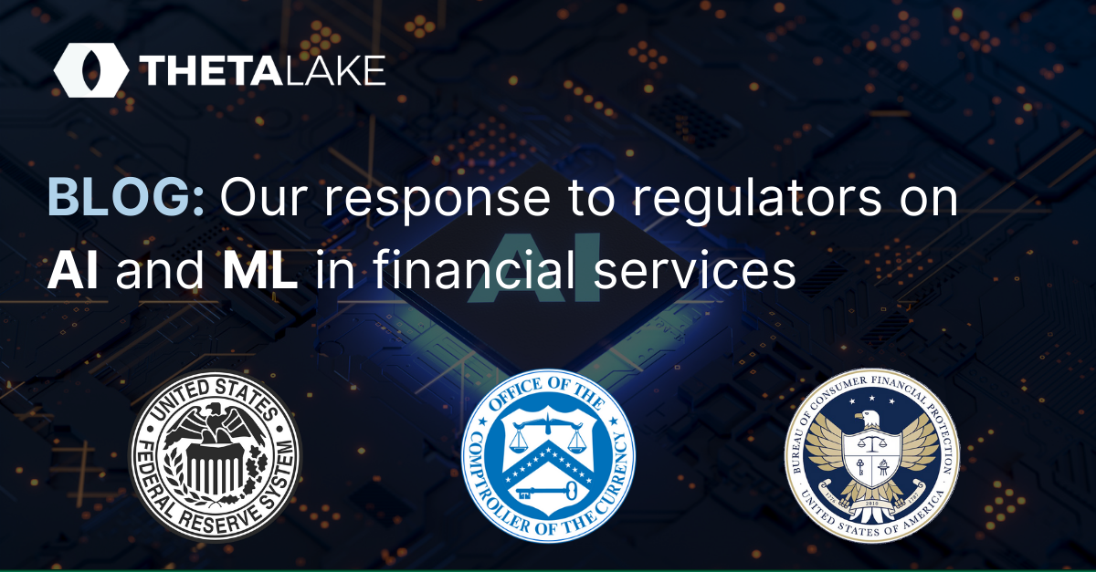 Blog post - response to regulators about AI and ML